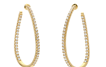 Shared Prong Twist Hoops